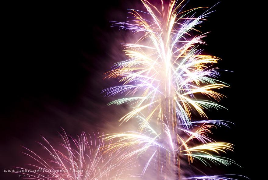 NYE Fireworks 2011 Burj Khalifa